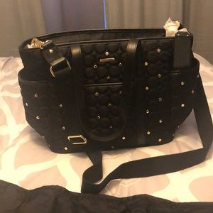 Rebecca Minkoff Marissa black studded baby bag